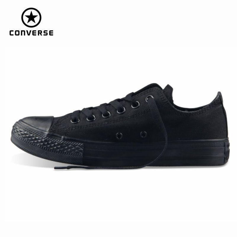 Original Converse all star men's and women's sneakers for men women canvas <font><b>shoes</b></font> all black low classic Skateboarding <font><b>Shoes</b></font>