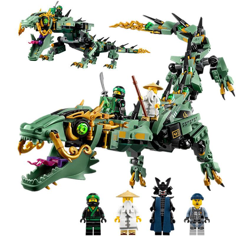 [Bainily]Ninjago Movie Series Flying Mecha Dragon Building Blocks Bricks Toys Model Gifts Compatible With LegoINGly NinjagoINGly