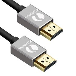 HDMI Câble 2.0 Professionnel 3D 4 k Full HD 1080 p Audio Return Channel (ARC) 24 k Or plaqué