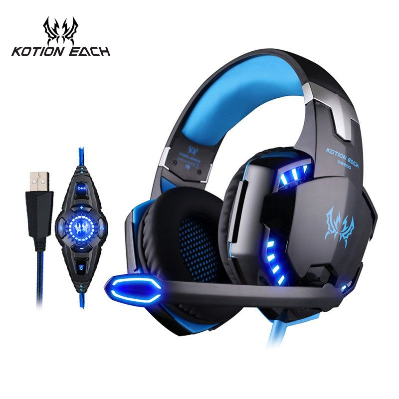 KOTION EACH Vibration Gaming Headset 7.1 PC casque Gaming Gamer Headset Surround 7.1 Headphone USB With Microphone For Computer