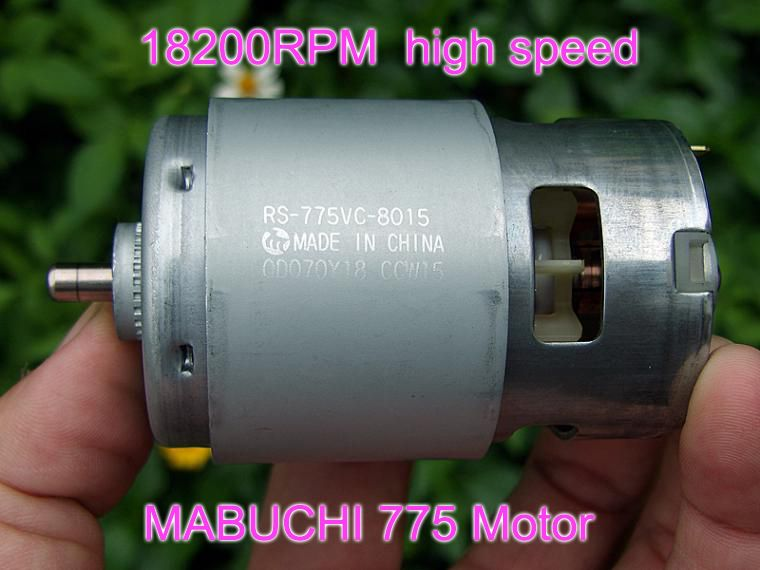 MABUCHI RS-775VC 775 8015 perceuse électrique scie haute vitesse moteur DC 12 V 18 V 18200 tr/min puissance nominale 208 W