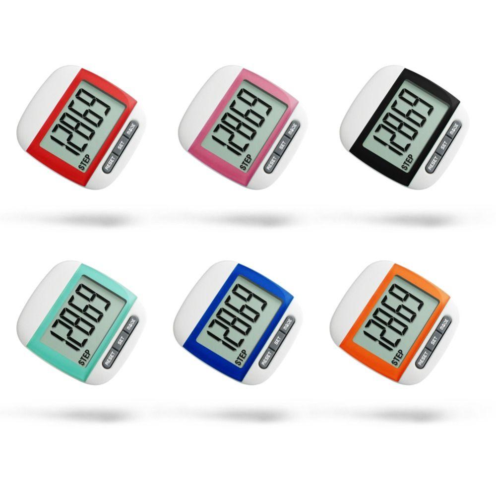 Водонепроницаемый шаг движение счетчик калорий Multi-Функция Выполнить Прогулки цифровой ЖК-дисплей шагомер