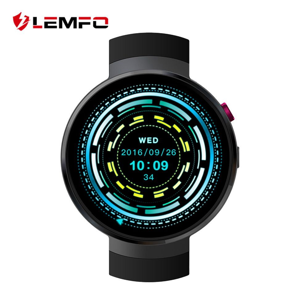 LEMFO LEM7 4g Android 7.0 Montre Smart Watch 1 gb + 16 gb 2MP Caméra GPS 580 mah Batterie Sport entreprise Mode Raduction Outil Smartwatch