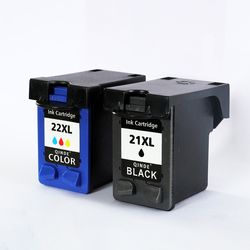 Qinde Refilled Ink Cartridge Replacement for hp 21 22 cartridge 21 and 22 for Deskjet 3915 3920 D1320 F2100 F2280 F4180 21 22X