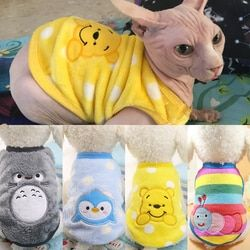 الدافئة القط الملابس الخريف الشتاء الحيوانات الأليفة الملابس للقطط الصغيرة الكلاب الكرتون القط ازياء لينة الصوف هريرة كيتي معطف سترة الزي