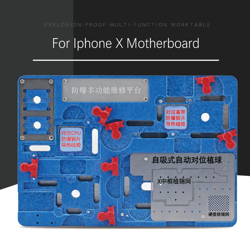 Newest Circuit Board PCB Holder Jig Fixture Work Station for iPhone X Motherboard A11 CPU Chip Repair Tools