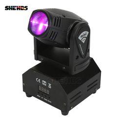 Лидер продаж мини светодио дный 10 Вт пятно луча, Движущегося головного Лира свет DMX512 свет этапа стробоскоп для домашних развлечений професс...