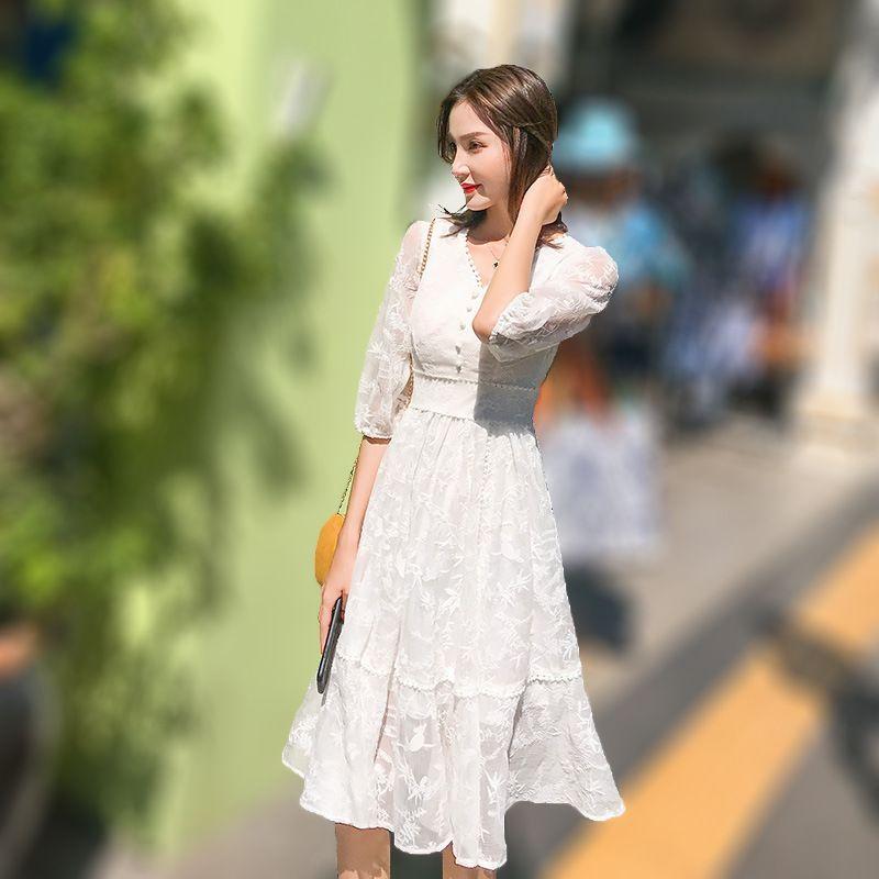 2019 femmes Tulle robe mode élastique taille haute maille Tutu robe plissée longue robe Midi robe Saias Faldas Jupe Femmle