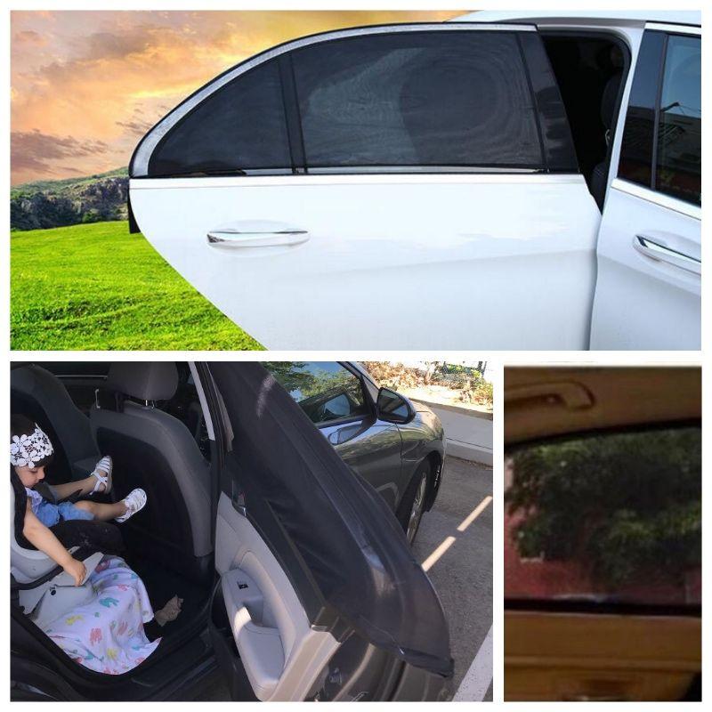 Livraison directe 2 pièces voiture pare-soleil Protection UV voiture rideau voiture fenêtre pare-soleil fenêtre latérale maille pare-soleil