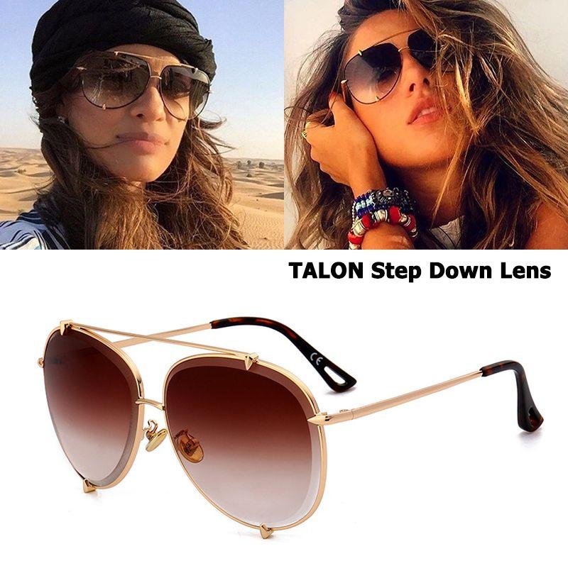 JackJad Fashion TALON Step Down Lens Style Aviation Sunglasses Women Men Vintage Brand Design Sun Glasses Oculos De Sol D8002