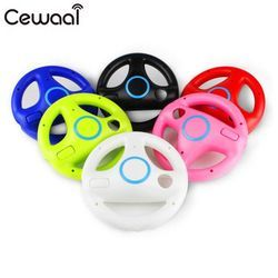 Cewaal Racing Game Round Steering Wheel Remote Controller for Nintendo for Wii