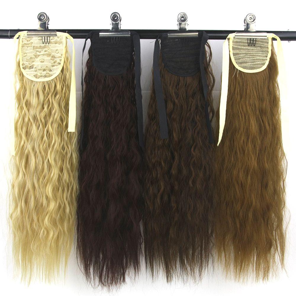 Extensions de cheveux en Fiber synthétique Afro crépus à haute température