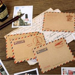 10 pcs/set Mini Retro Vintage Kraft Paper Envelopes Korean Stationery Gift