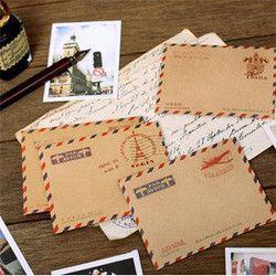 10 pcs/set enveloppes Mini Retro Vintage papier Kraft papeterie coréenne cadeau