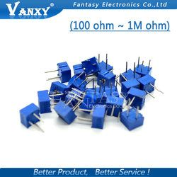 10 pcs 3362 p 101 201 501 102 202 502 103 203 503 104 204 504 105 Trimpo Trimmer Potentiomètre 3362 500R 1 k 2 k 5 k 10 k 20 k 50 k 100 k