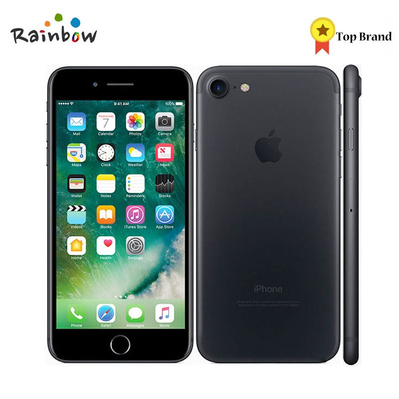 Entsperrt Original Apple iPhone 7 4,7 Apple Zahlen 2 gb RAM 12.0MP Kamera IOS Quad Core 4 karat Video 4g LTE Handy Mit Touch-ID