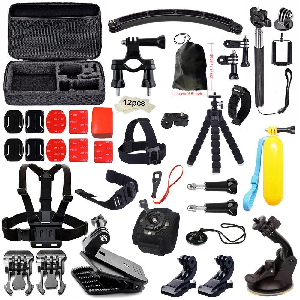 Accessories Kit for Gopro Hero 5 Set for Yi 4K Camera Chest Head Mount Strap for Go Pro Floating Selfie stick For Eken SJCAM