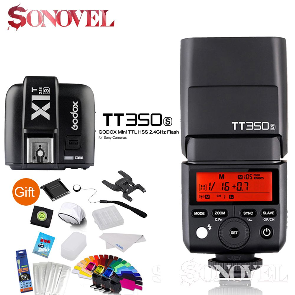 Godox TT350S Mini Speedlite +X1T-S Transmitter TTL HSS GN36 Camera Flash for Sony Mirrorless DSLR Camera A7s A6000 A6500 Series