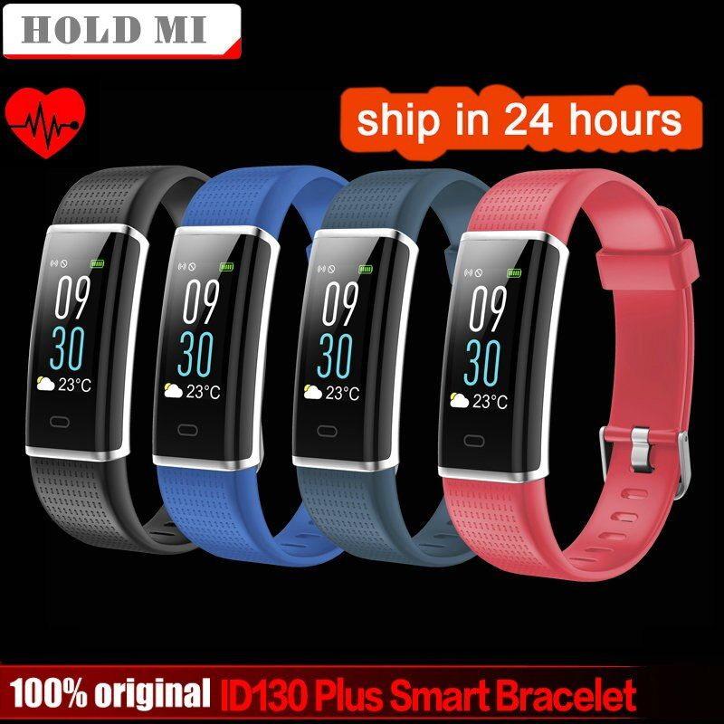 Hold Mi ID130 Plus Color Smart wristband Heart rate Watches Smart bracelet Fitness tracker Smart <font><b>band</b></font> PK mi <font><b>band</b></font> 3 Honor <font><b>band</b></font> 3