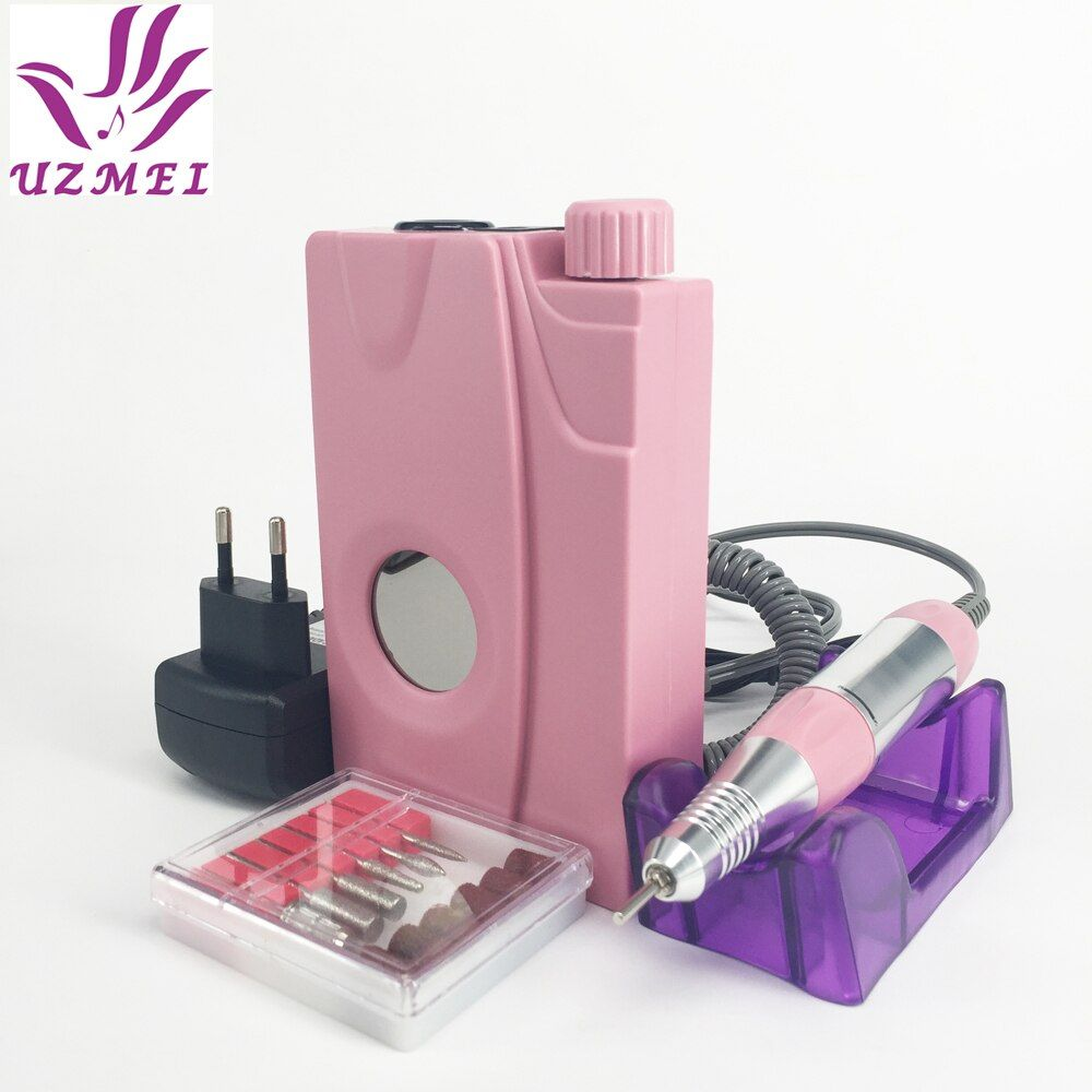 New 110-240V Portable Electric Nail Drill Machine Acrylic Nail File Drill Manicure Pedicure Kit Set Rechargeable for Nail Tools