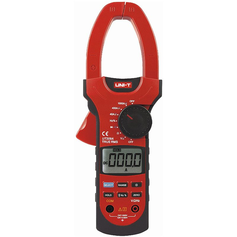UNIT UT209A Digital Clamp Multimeter 1000A 1000V True RMS Clamp Meter UNI-T Ammeter Voltmeter LCD Backlight ac dc current clamp