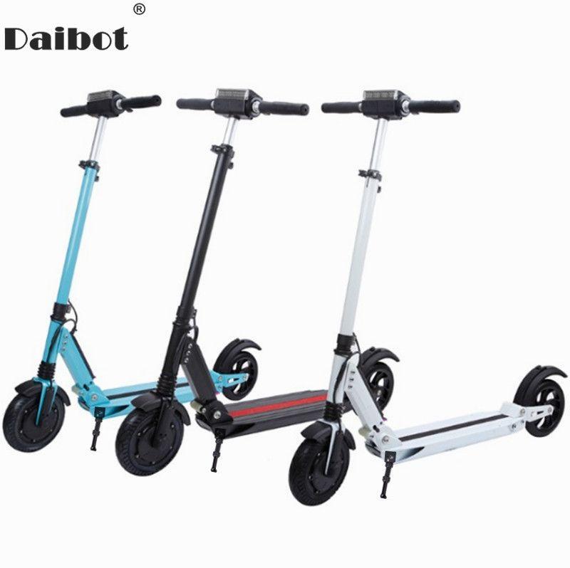 Daibot Elektrische Roller Für Erwachsene Zwei Rad Elektro-scooter 8 zoll 36 v Doppel Suspension Klapp Elektrische Skateboard Roller