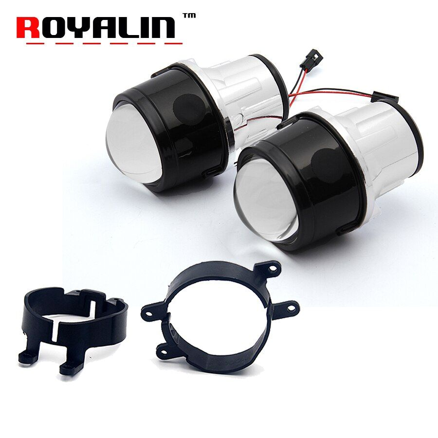 ROYALIN Fog Light Lens for Toyota Corolla RAV4 Camry Yaris Lexus 2.5'' Full Metal Bi Xenon Projector Lens Auto H11 Fog Light