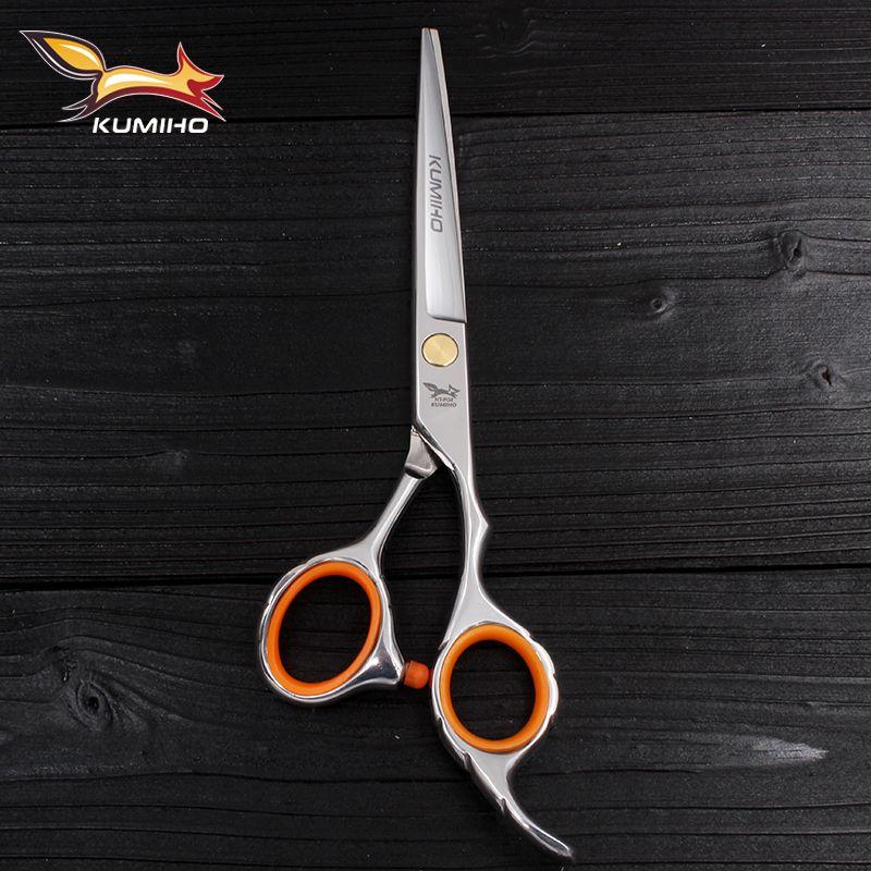 KUMIHO livraison gratuite ciseaux à cheveux avec micro lame dentelée ciseaux de coiffure professionnels de haute qualité 6 pouces 9cr13
