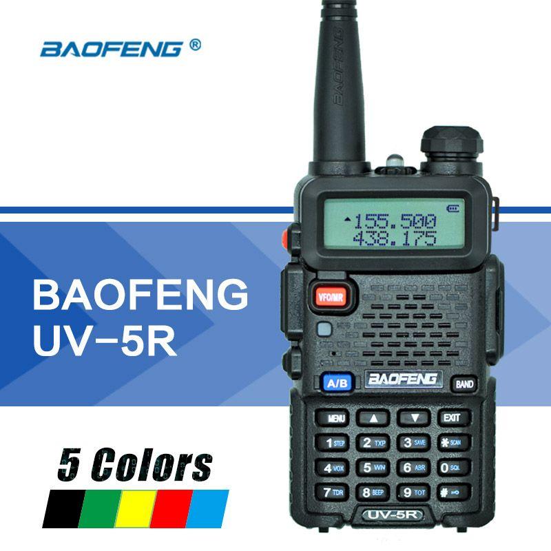 Baofeng UV-5R Talkie Walkie Dual Band UV5R Radio Station UHF VHF Deux-Way Radio VOX lampe de Poche FM Émetteur-Récepteur pour chasse Radio