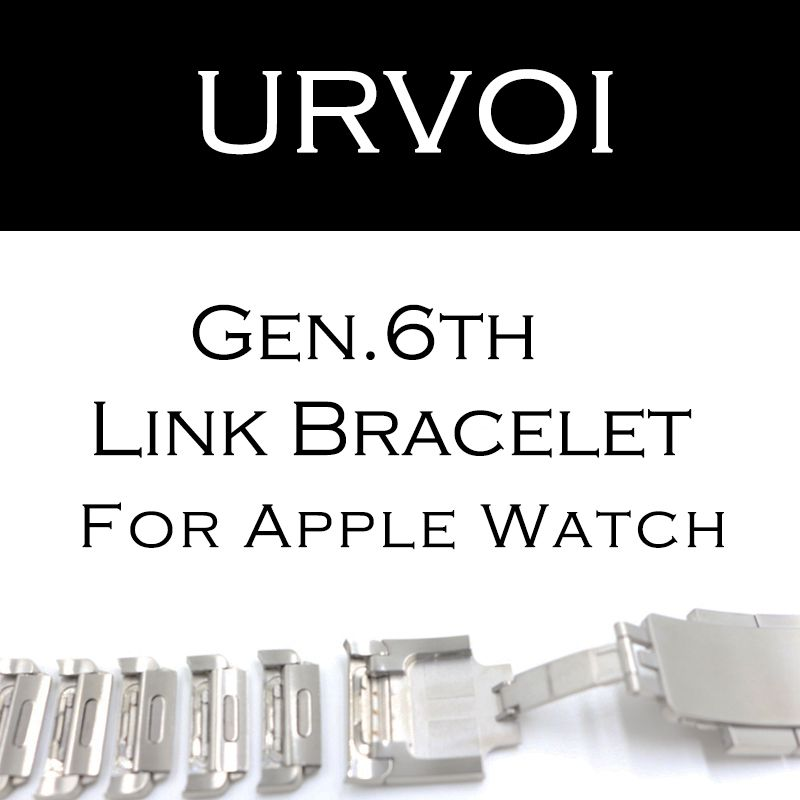 URVOI link bracelet band for apple watch series 4 3 2 1 strap for iWatch adjustable high quality stainless steel strap gen.6