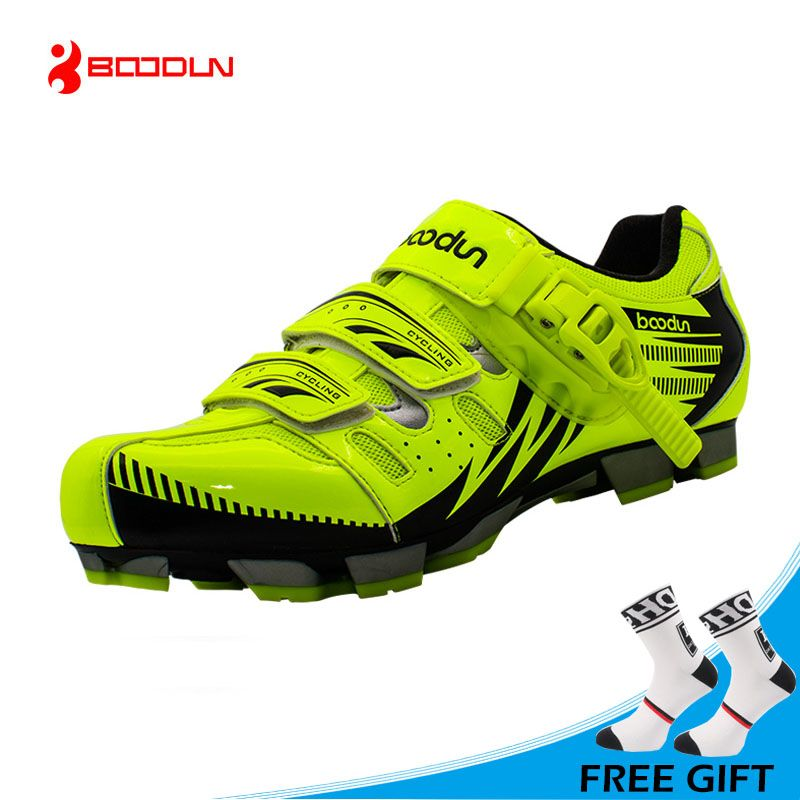 BOODUN New Design Cycling Shoes Men Outdoor <font><b>Mountain</b></font> Bike Shoes Self-locking MTB Shoes Non-slip Bicycle Shoes Sapatos