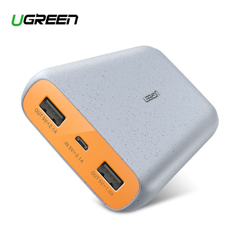 Ugreen Power Bank 20000mAh Slim Powerbank For Xiaomi Mi 8 Portable External Battery Charger For iPhone 7 8 X Dual USB Pover Bank