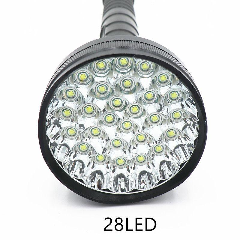 48000 lumen 28 LED XML T6 18650 26650 exploration torch light flashlight tactical lantern,self defense,camping light, lamp