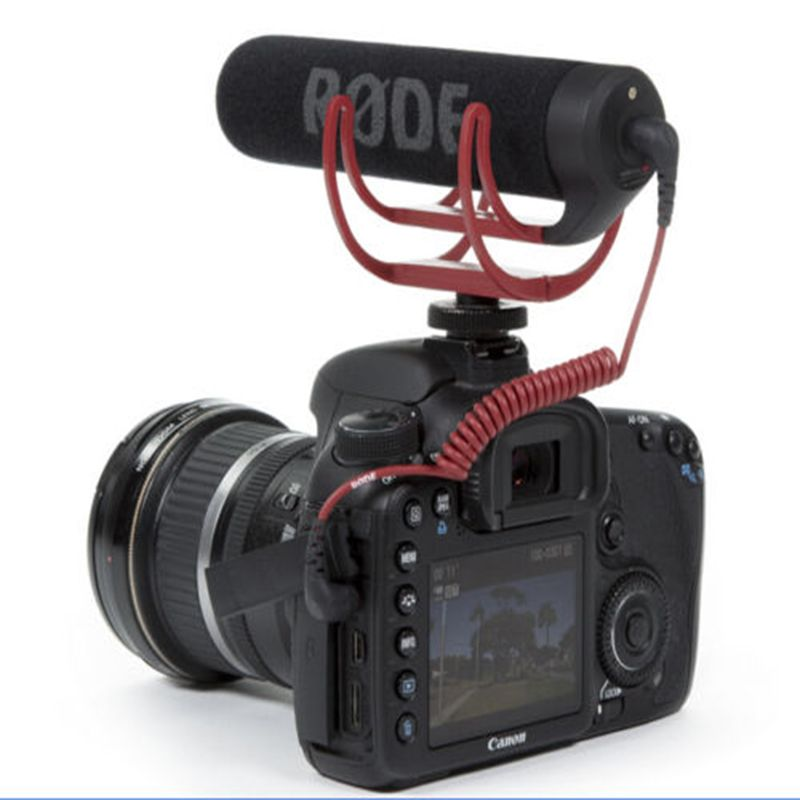 Foleto Microphone Rode VideoMic Go Video Camera Mic Recorder Handheld Wired 3.5 mm for Canon Nikon Sony DV DSLR 600D 70D D90 D3S