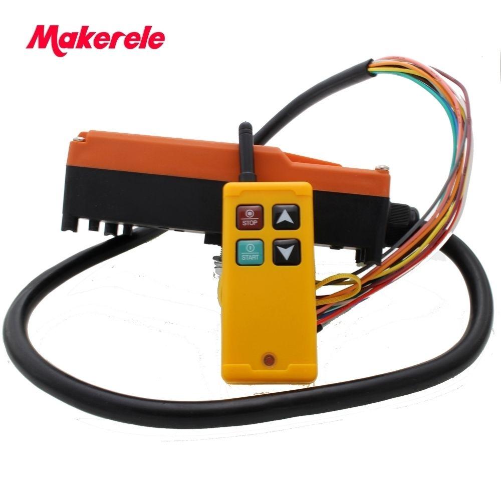 Industrielle Sans Fil Radio télécommande Commutateur pour grue 1 récepteur + 1 transmetteur AC220V 110 V 380 V 36 V DC12V 24 V MKLTS-4