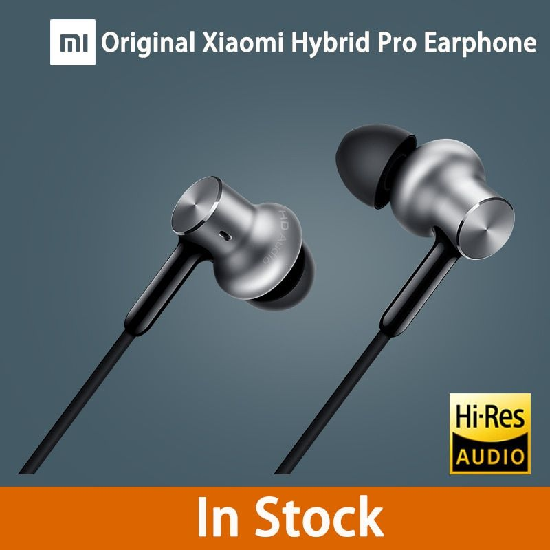 Original Xiaomi Hybrid Pro HD Earphone with Mic In-Ear HiFi noise canceling Headset Circle Iron Mixed For Xiaomi note4 mi 6