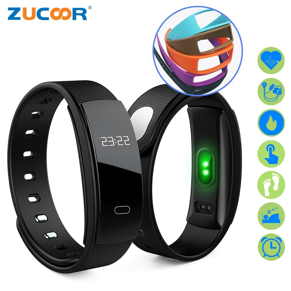 ZUCOOR Smart Bracelet Fitness Band Heart Rate RB31 Pulse Blood Pressure Tracker Watch Pedometer Pulsera Inteligente <font><b>Tonometer</b></font>