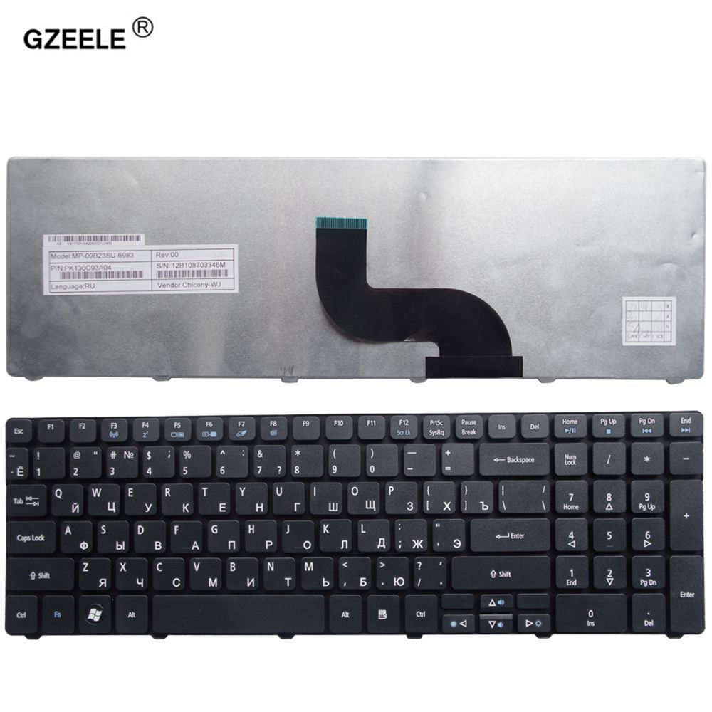 GZEELE for Acer Aspire 5750 5750G 5253 5333 5340 5349 5360 5733 5733Z 5750Z 5750ZG 7745 emachine e644 RU laptop keyboard RUSSIAN