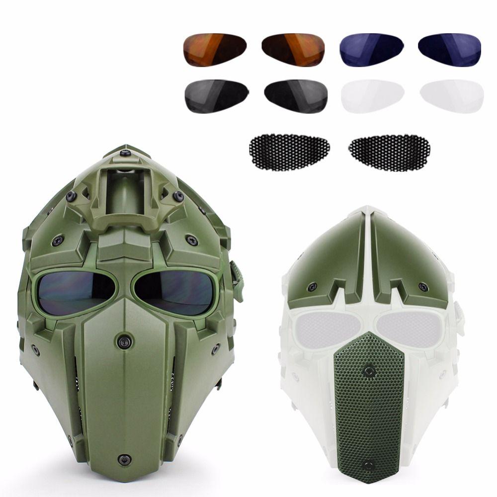 Taktische Militärische CS Sport Airsoft Jagd Paintball Military Helm Maske Taktische Helm mit Maske