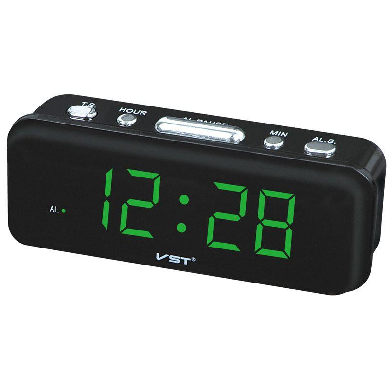 Большие цифры Цифровые Будильники ЕС разъем питания переменного тока рабочего стола Часы с 0.9 большой светодиодный Дисплей Home Decor подарок д...
