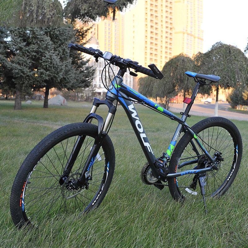 27,5 zoll nicht faltrad aluminium rahmen mountainbike fahrräder 24 geschwindigkeit scheibenbremsen unisex MTB fahrräder 2 farben paar fahrrad