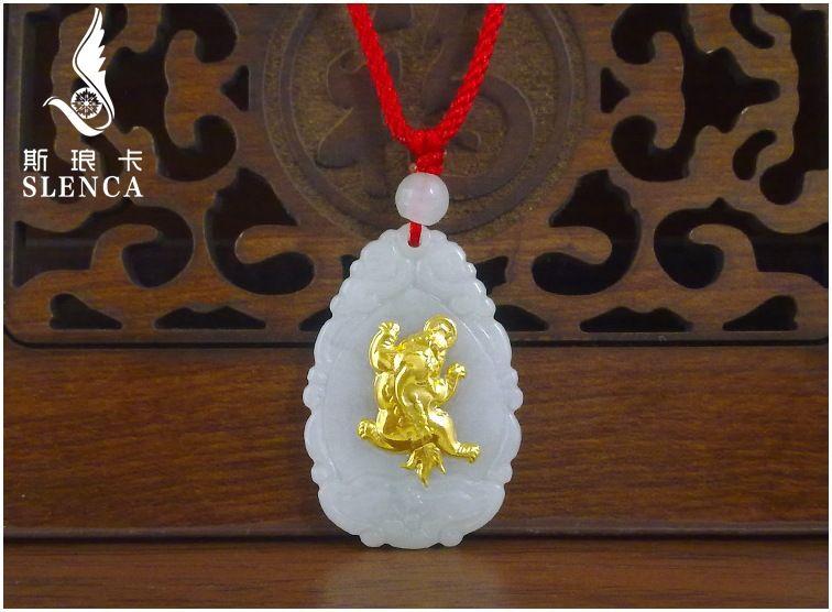 Бесплатная доставка хорошее качество нефрита кулон для Для мужчин Для Женщин Скидка Ожерелья для мужчин на Лидер продаж