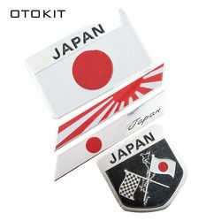 Bandera japonesa emblema Badge Car Styling etiqueta engomada de la motocicleta para KAWASAKI SUZUKI YAMAHA Honda Toyota Nissan Mazda Mitsubishi
