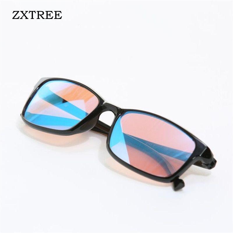 ZXTREE Color-blindness Glasses Red <font><b>Green</b></font> Color Blind Corrective HD Glasses Women Men Colorblind Driver's license Eyeglasses Z368