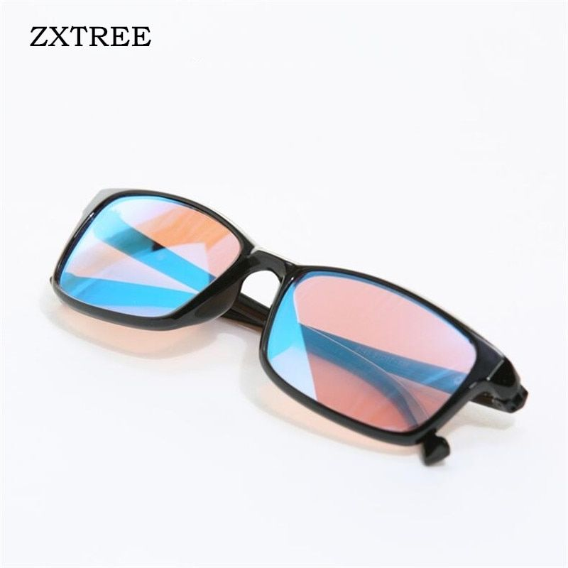 ZXTREE Color-blindness <font><b>Glasses</b></font> Red Green Color Blind Corrective HD <font><b>Glasses</b></font> Women Men Colorblind Driver's license Eyeglasses Z368