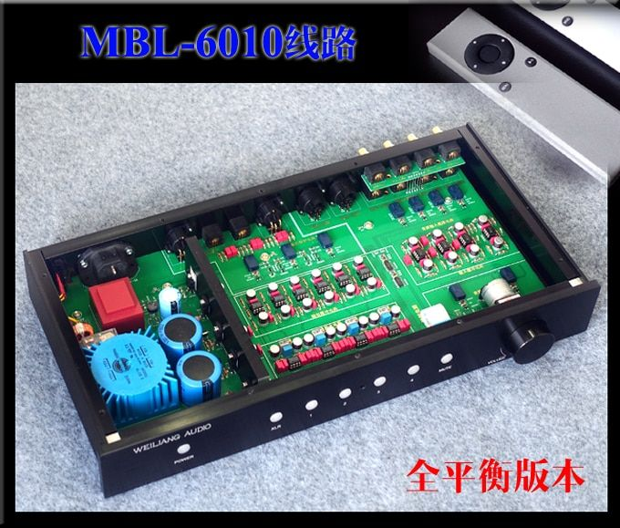 Finished MBL6010 Fully Balanced Remote Pre-amplifier RCA/XLR Audio Preamplifier