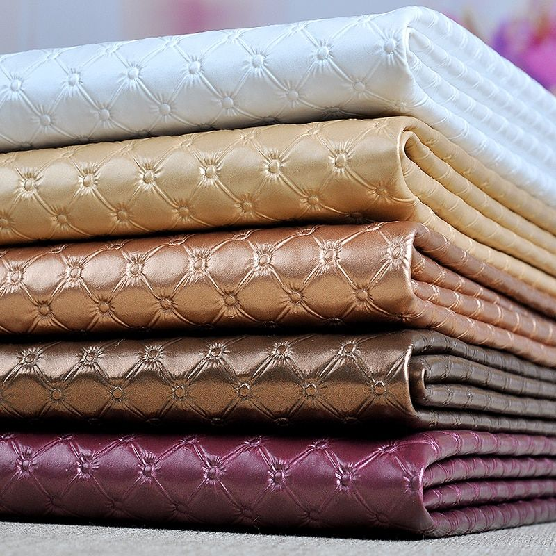 50x135cm Pvc Synthetic Leather Furniture Fabric, Pvc Upholstery Fabric Sofa, Thick Faux Leather Material Vinilo Decorativo Tissu