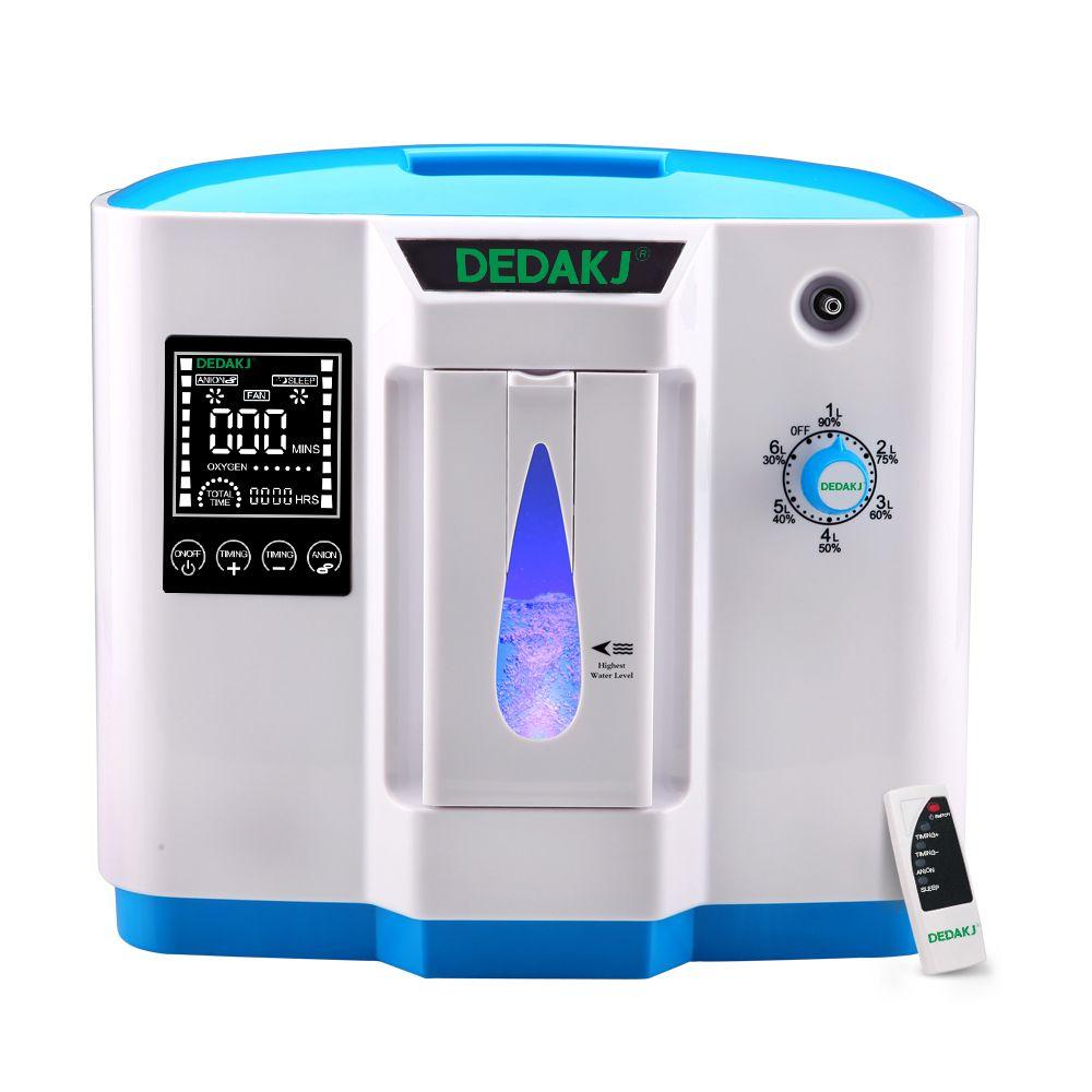 DEDAKJ DDT-1B Air Purifier Portabl Oxygen Concentrator Machine Generator Not Battery Powered Adjustable Home AC110V/220V