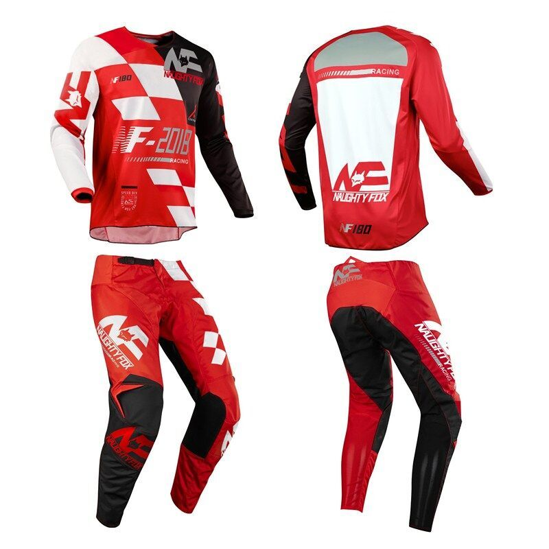 Racing 180 New Design SAYAK Motocross Racing Suit DH MTB MX Motorcycle Off-Road Jersey&Pants Red 180 Moto Combos