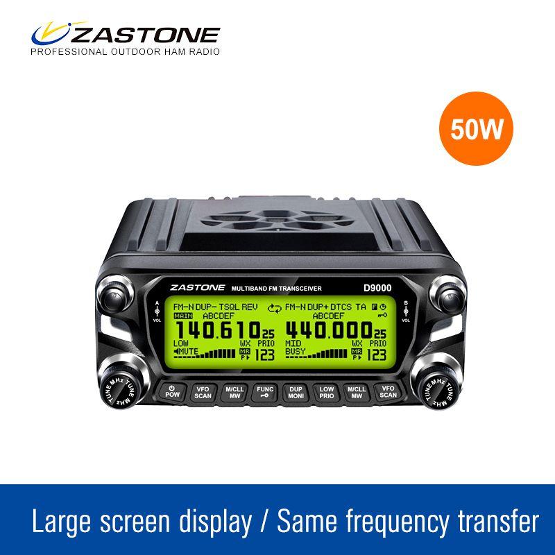 Zastone D9000 Ham Radio émetteur-récepteur 512 Canaux Ham Radio 50 W 136-174 MHz 400-520 MHz Voiture talkie Walkie Mobile Radio Communicateur